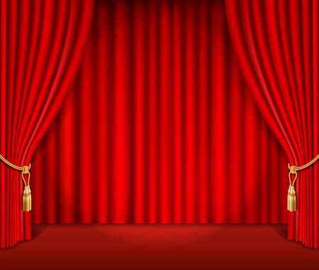 Red theatrical curtain