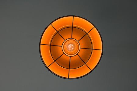 electric fixture: Orange lamp Stock Photo