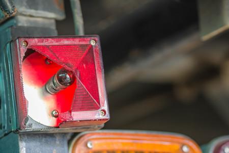 close-up Broken tail light of the Truck