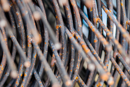 close-up iron wire for construction.texture. Abstract background Stock Photo