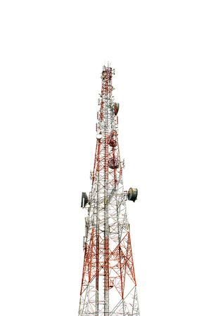 白い背景のコミュニケーションタワー