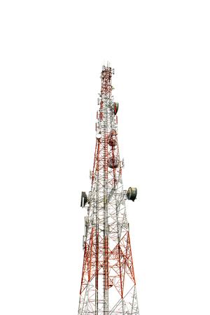 Communication Tower on white background
