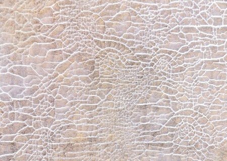 Close up Patterned cracking of  old fabric texture background,Abstract retro pattern