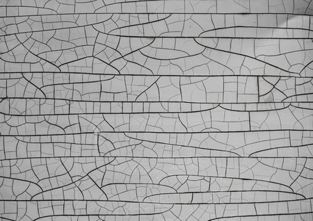 Cracks on the white board texture. Abstract background Stock Photo