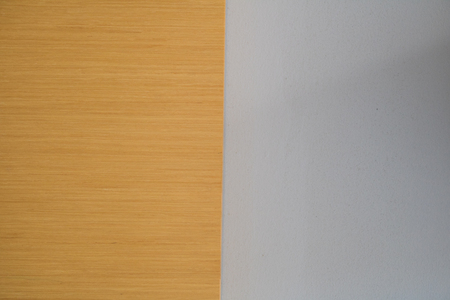 Brown and white surface in two tone color walls. texture background with copy space