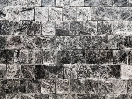Close-up Vintage slate wall square shape texture - Abstract background