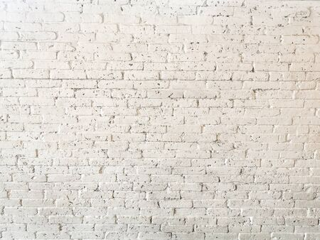 Old white brick dirty walls background texture. Abstract Banco de Imagens - 132125135