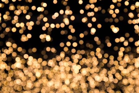 Abstract Bokeh blurred color Soft yellow light for background, light festival