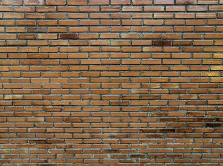 Close-up Vintage red brick wall texture background