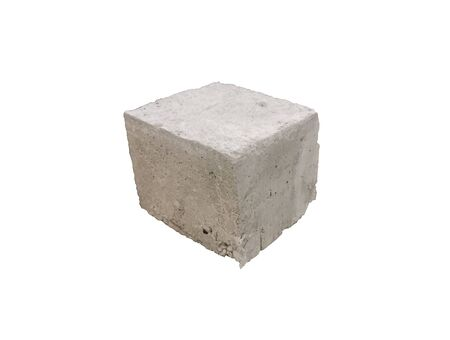 Old Concrete Cubes  isolated on white background,concrete block