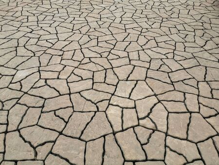 Close up Cracked Concrete Brick  Texture. Abstract background
