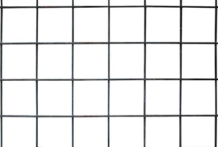 partition steel grating isolated on white background 版權商用圖片