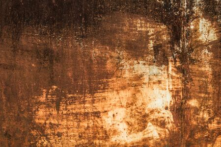 Close-up Rust on an old sheet of metal texture. Abstract background