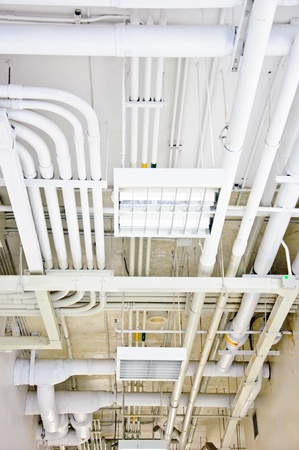 white pipe system in the hospital