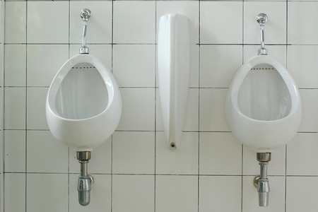 Urinals in mens toilet