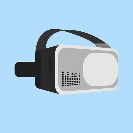 Virtual reality glasses on  background, Vector illustration.