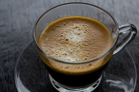 americano: hot coffee in a cup