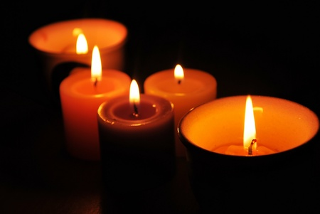 candle for spa,the easy hand made from wax. Stock Photo