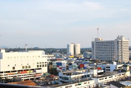 The business district of City Land