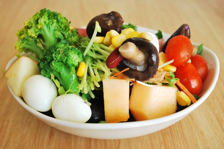 Salad,healthy and low calories for diet.