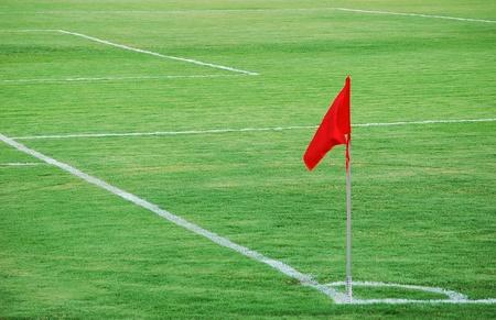 Red Flag,a corner of soccer court.