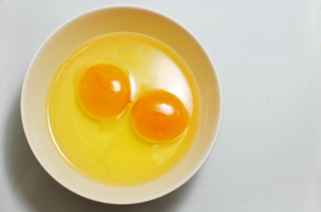Egg yolks for cook anything you can eat Stock Photo