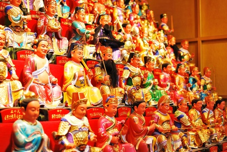Chinese Dolls, worship for good luck . Editorial