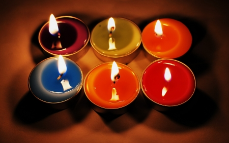 forcast: colorful candle we can use this for any decoration Stock Photo