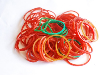 incommunicado: Colored rubber bands