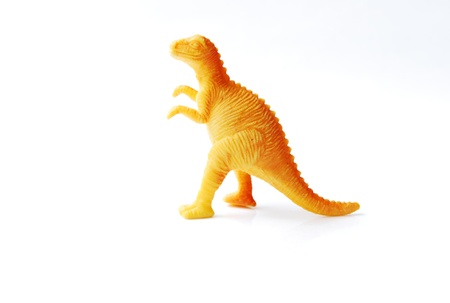 Toy plastic dinosaur made from rubber