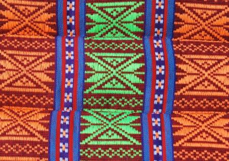 Thai style textile on pillow
