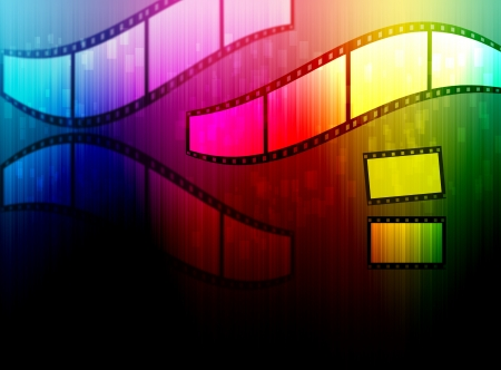 film with spectrum background