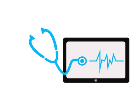 Screen tablet and stethoscope