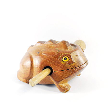 Wooden Frog on white background Stock Photo - 25233687