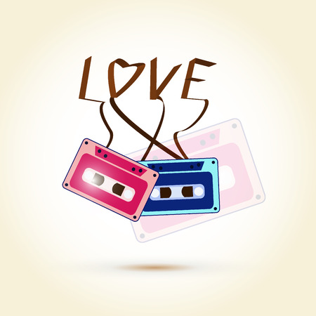 LOVE word from sweet cassettes tape photo