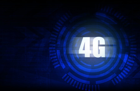 4g: 4G with blue abstract technology background