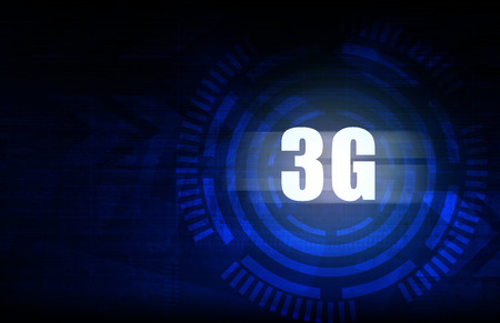 3g: 3G with blue abstract technology background