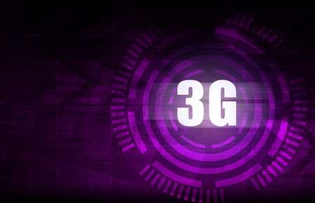 3g: 3G with purple abstract technology background