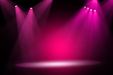 Pink stage light background