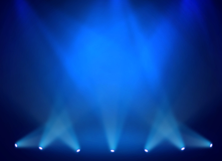 stage spotlight: Blue stage background