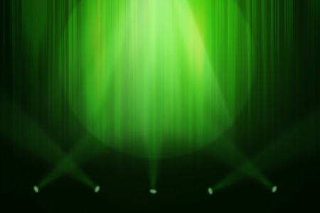 concert stage: Green stage background