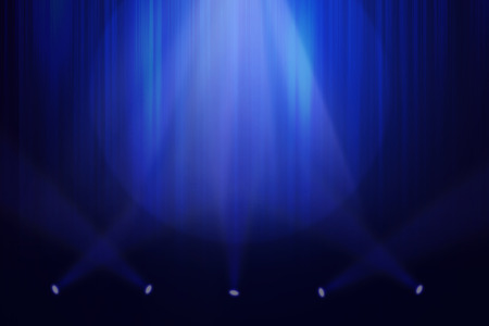 abstract wallpaper: Blue stage background