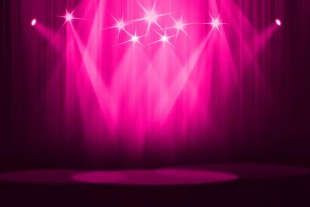 Pink stage background Standard-Bild