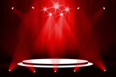 Red stage background Foto de archivo