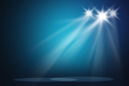 Blue stage light background Stock Photo