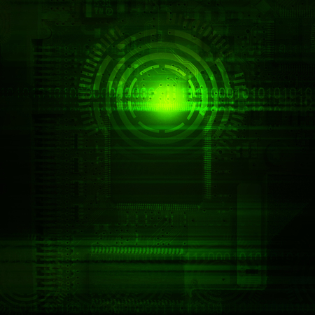future technology: Green abstract technology background