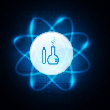 AtomMolecules on science background