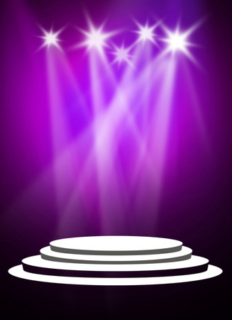 Purple stage light background