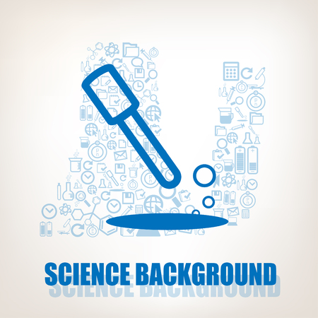 Test tube symbol on science laboratory background.