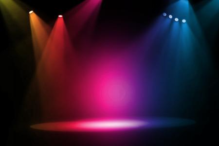 Colrful stage light background